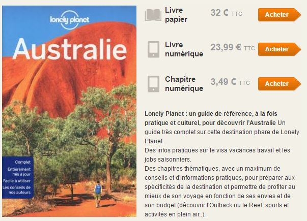 Lonely Planet exemple guide