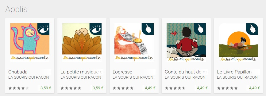 Google Play la souris qui raconte