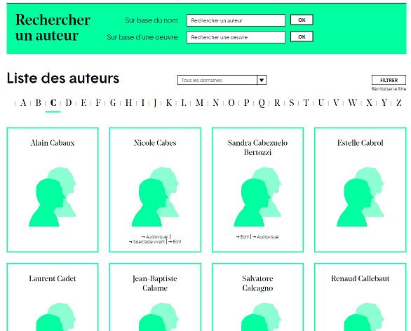 bela  un site qui parle des auteurs et qui les fait parler