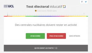 Capture d'écran test électoral