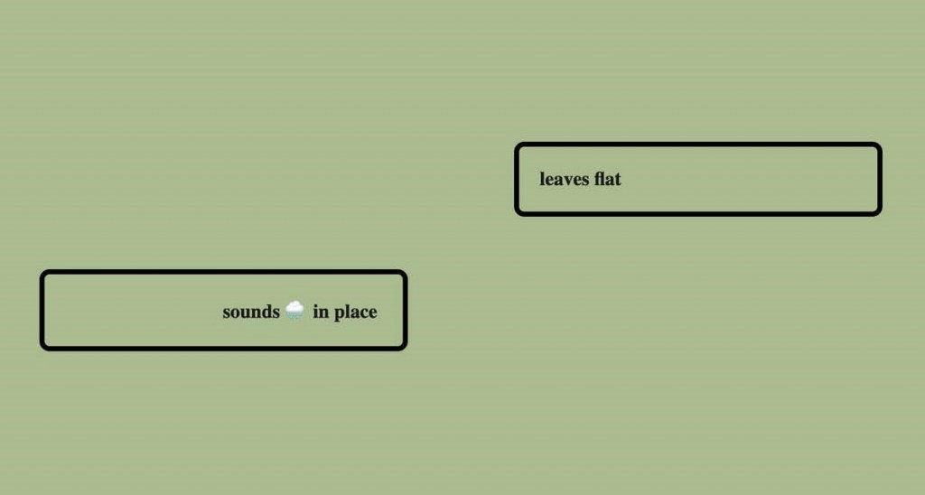 Un extrait du poème génératif Dial (2020) de Lai-Tze Fan et Nick Montfort